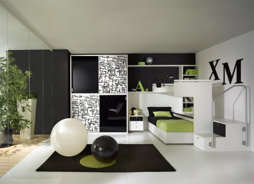 chambre gain de place estrade. Black Bedroom Furniture Sets. Home Design Ideas