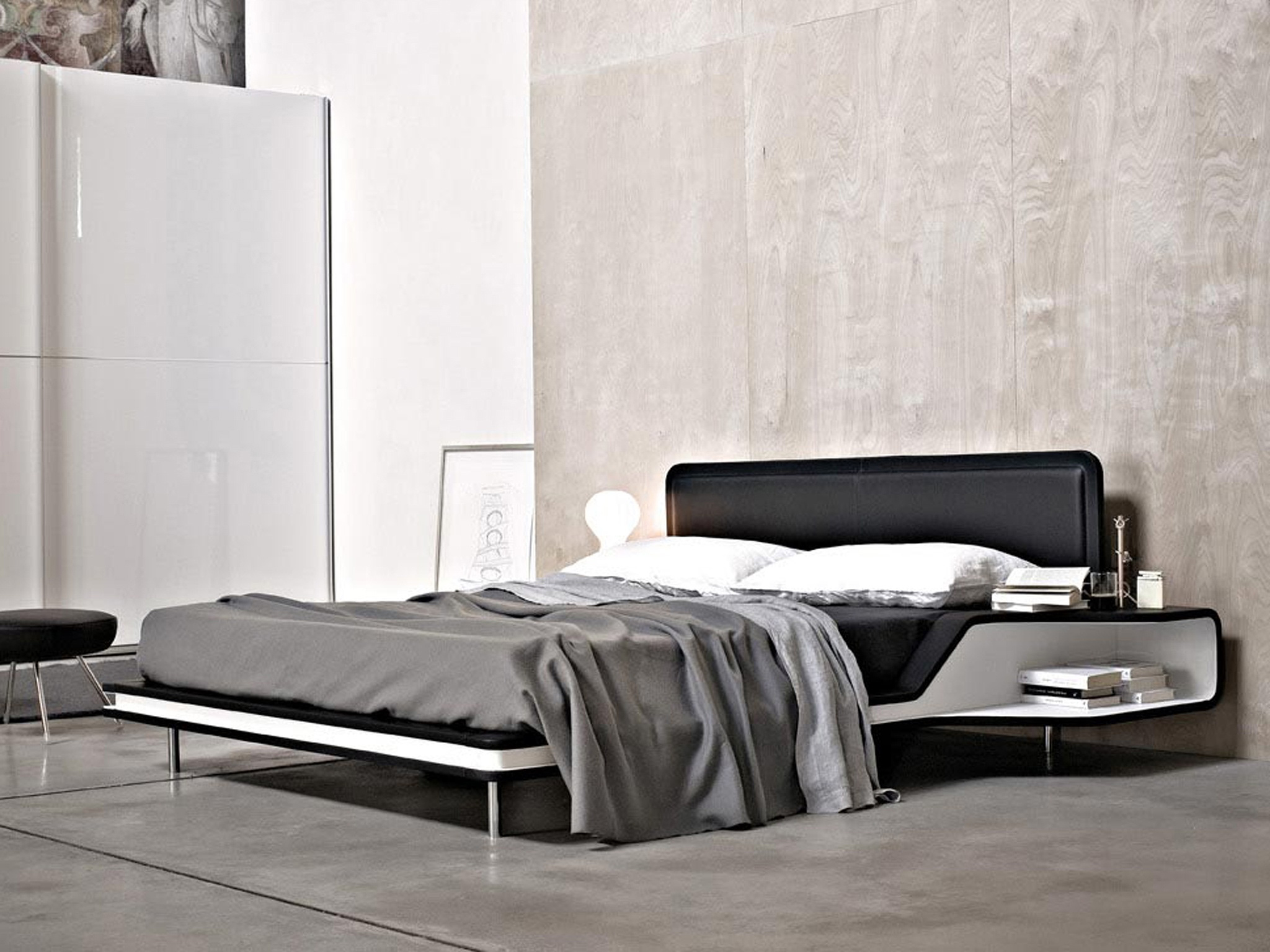 tete lit avec chevet. Black Bedroom Furniture Sets. Home Design Ideas