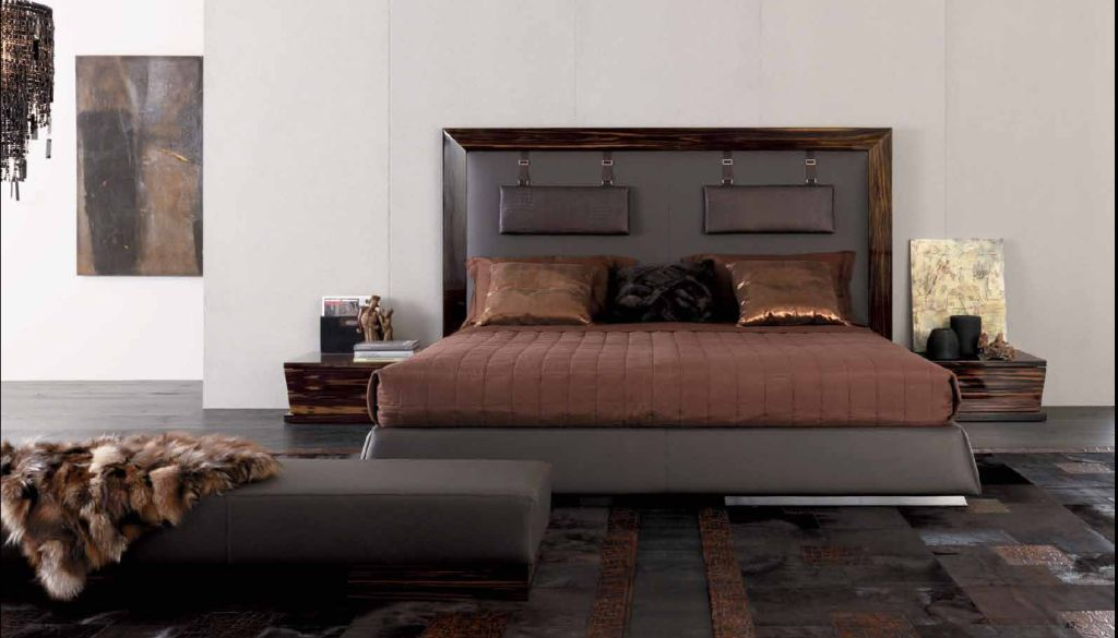 lit haut de gamme cuir. Black Bedroom Furniture Sets. Home Design Ideas